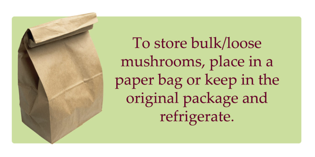 shiitake mushrooms storage