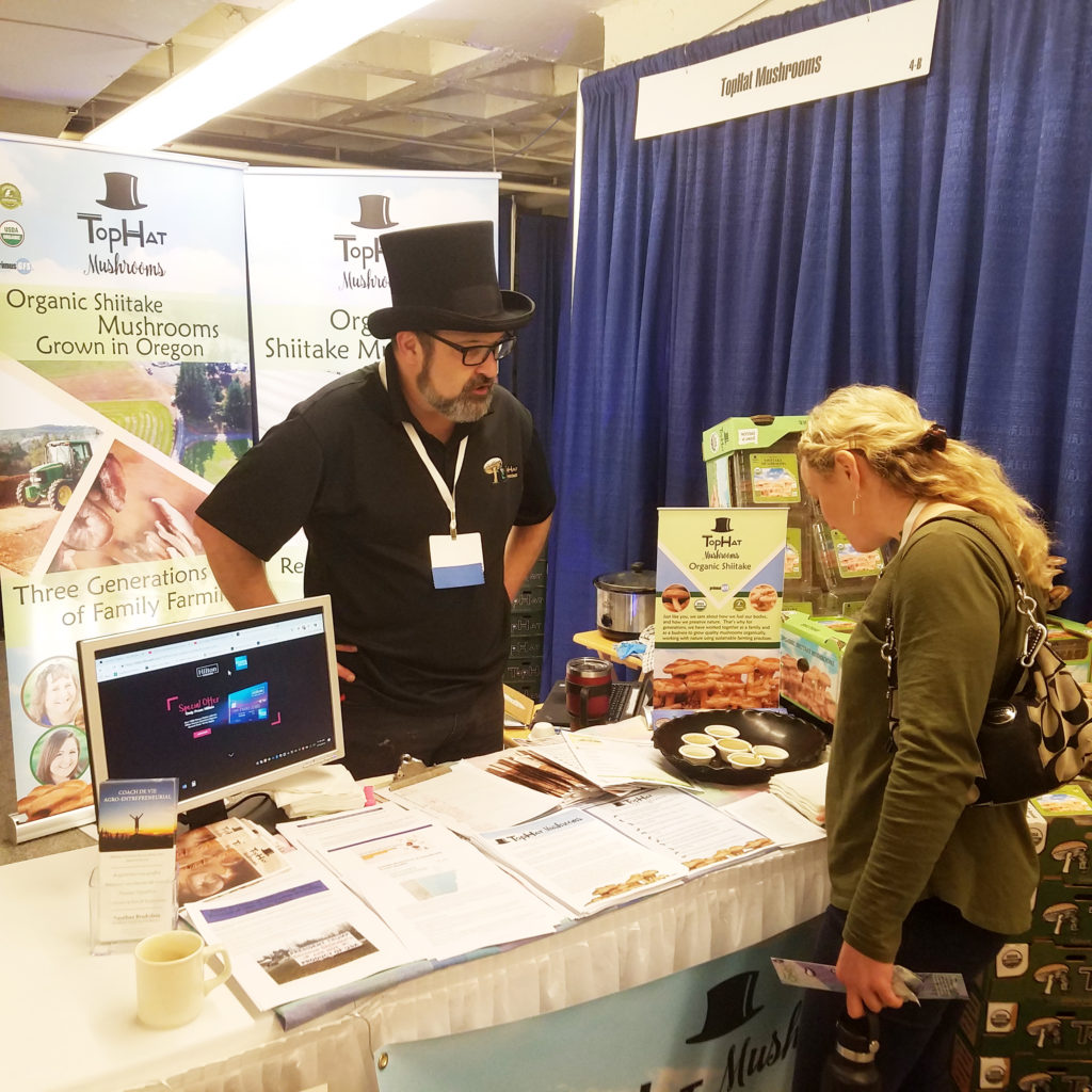 top hat mushrooms organic shiitake trade show